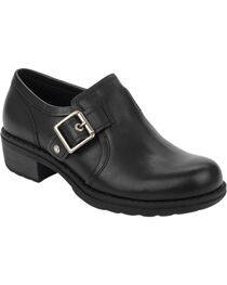 Eastland Women's Black Open Road Slip-Ons , , hi-res