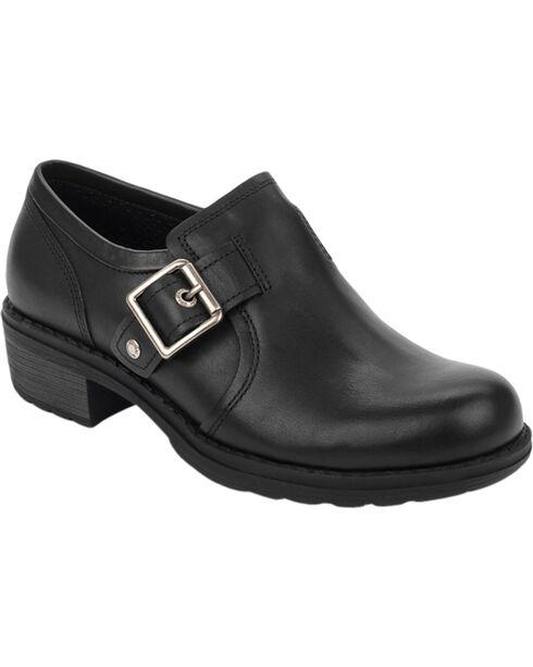 Eastland Women's Black Open Road Slip-Ons , Black, hi-res
