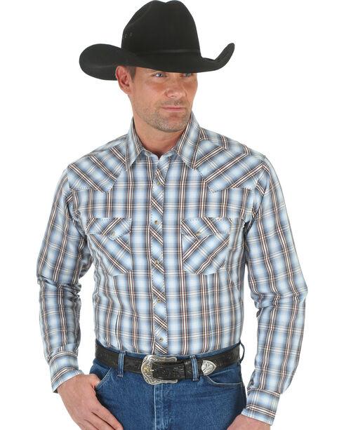 Wrangler Men's Long Sleeve Snap Shirt, White, hi-res