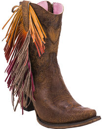 Junk Gypsy by Lane Women's Brown Spirit Animal Ankle Boots - Snip Toe , , hi-res