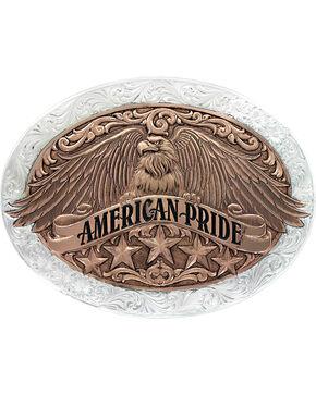 Montana Silversmiiths American Pride Buckle, Silver, hi-res