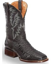 El Dorado Men's Caiman Black Stockman Boots - Square Toe , , hi-res