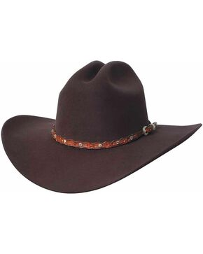 Bullhide Men's Pistol Pete 6 X Wool Hat, Chocolate, hi-res