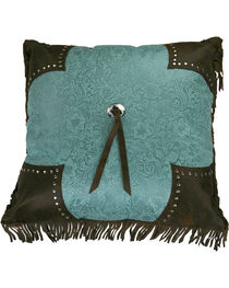 HiEnd Accents Scalloped Edge Cheyenne Fringe Pillow, , hi-res
