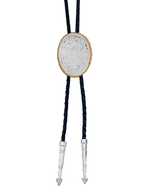 Montana Silversmiths Silver Oval Bolo-Tie, Multi, hi-res