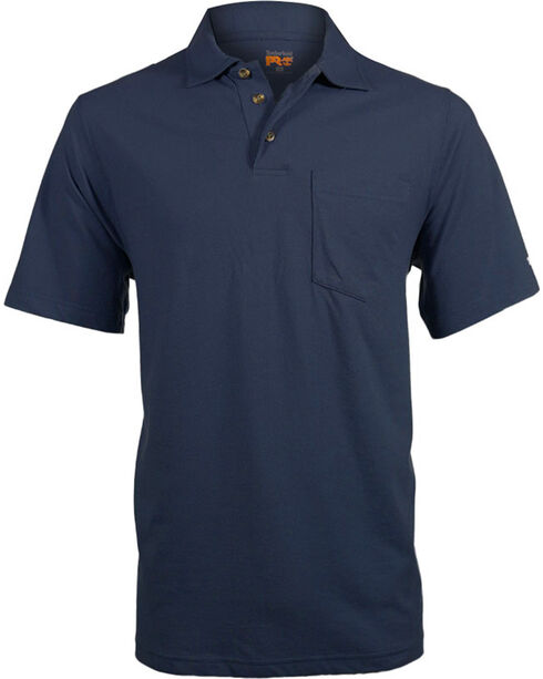 Timberland Pro Men's Short Sleeve Wicking Polo Shirt, Blue, hi-res
