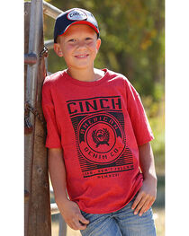 Cinch Boys' Red Lead Don't Follow Tee , , hi-res