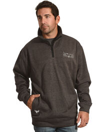 Cowboy Hardware Men's Steer Barb Cadet 1/4 Zip Pullover, , hi-res
