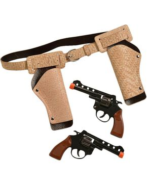 Little Outlaw Double Gun Holster Set, Khaki, hi-res
