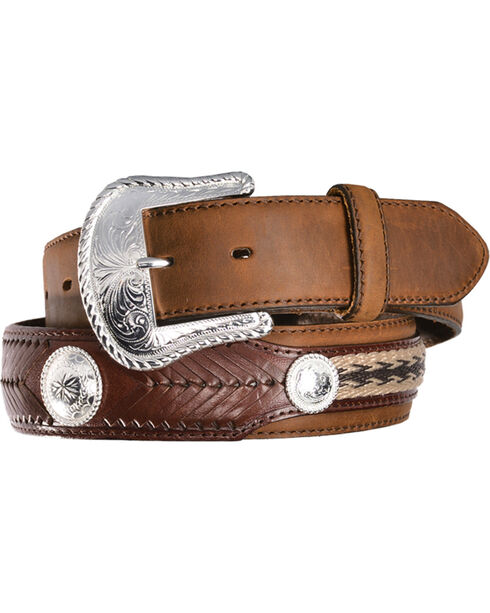 Tony Lama Men's Duke Leather Belt, Aged Bark, hi-res