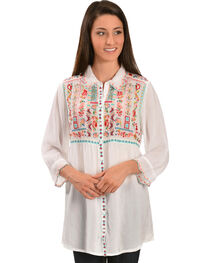 Johnny Was Women's Phaloola Embroidered Tunic, , hi-res