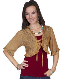 Scully Honey Creek Beige Bolero Jacket, Beige, hi-res