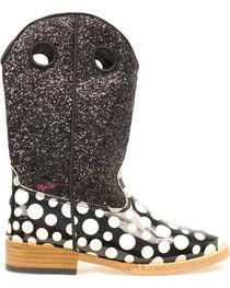 Blazin Roxx Youth Girls' Pearl Polka Dot Glitter Boots, , hi-res