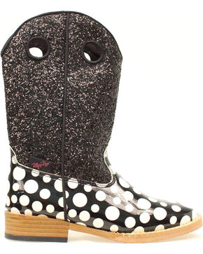 Blazin Roxx Youth Girls' Pearl Polka Dot Glitter Boots, Black, hi-res