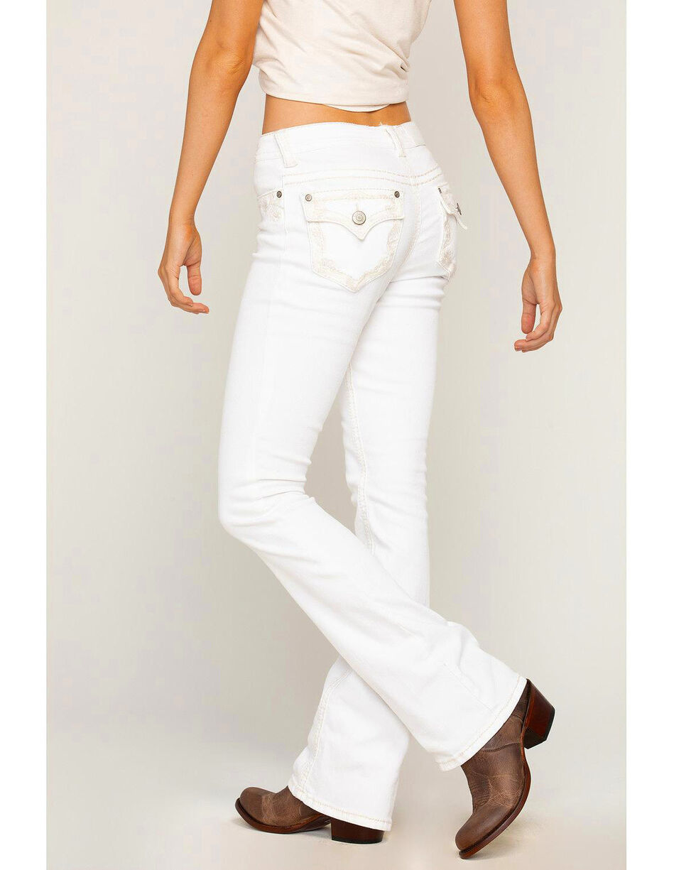 Shyanne Women's White Embroidered Jeans - Boot Cut, , hi-res