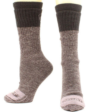 Ariat Men's Merino Work Sock Two Pack, Brown, hi-res