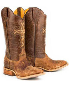 Tin Haul Men's Ichthys Aroundus Western Boots, Brown, hi-res