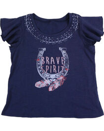 Shyanne® Girls'  Brave Spirit Short Sleeve Shirt, , hi-res