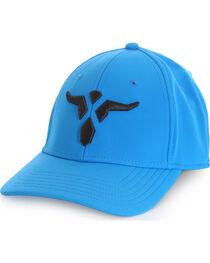 Wrangler Men's 20X Blue Stretch Fit Cap with Bull, , hi-res