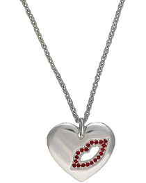 Montana Silversmiths Cowgirl Heart Sealed with a Kiss Charm Necklace, , hi-res