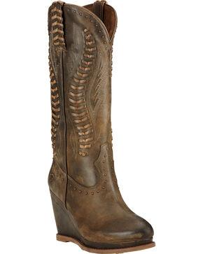 Ariat Women's Nashville Western Boots, Chocolate, hi-res