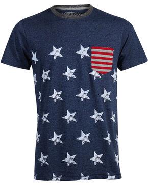 American Republic Men's Stars and Stripes T-Shirt , Blue, hi-res
