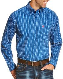 Ariat Men's Blue Rico Print Long Sleeve Shirt , , hi-res