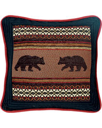 HiEnd Accents Bayfield Square Bear Pillow, , hi-res