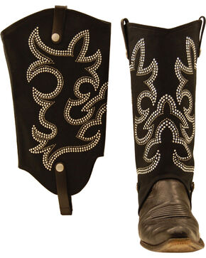 BootRoxx Cowgirl Boot Covers, Black, hi-res