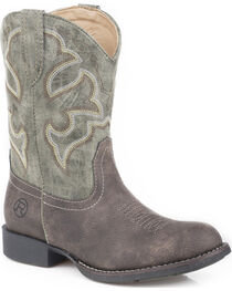 Roper Boys' Classic Western Cowboy Boots - Round Toe, , hi-res