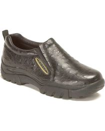 Roper Ostrich Print Leather Slip-On Shoes, , hi-res