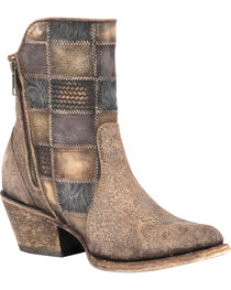 Corral Women's Patchwork Short Western Boots, , hi-res