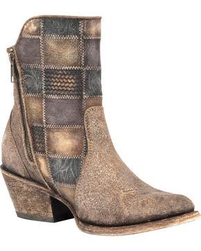 Corral Women's Patchwork Short Western Boots, Cognac, hi-res