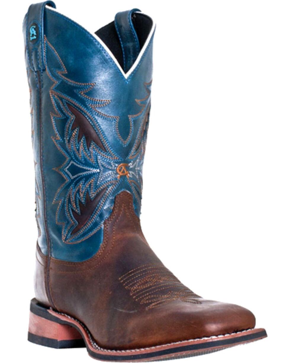 Laredo Men's Razor Square Toe Western Boots, Burgundy, hi-res