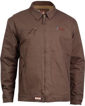 Rocky Men's WorkSmart Waterproof Short Jacket, Brown, hi-res