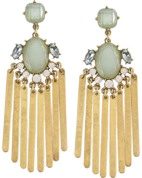 Shyanne Women's Rhinestone Chandelier Earrings, Gold, hi-res