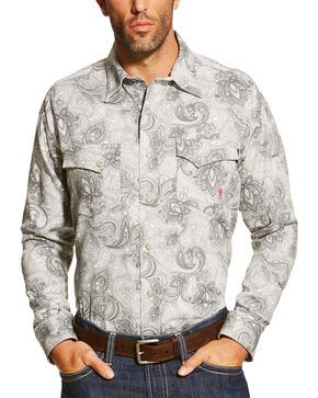 Ariat Men's Grey FR Milo Shirt , Grey, hi-res