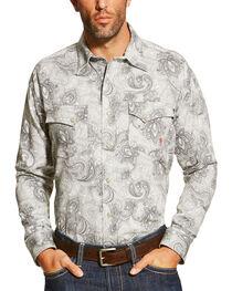Ariat Men's Grey FR Milo Shirt - Big and Tall, , hi-res