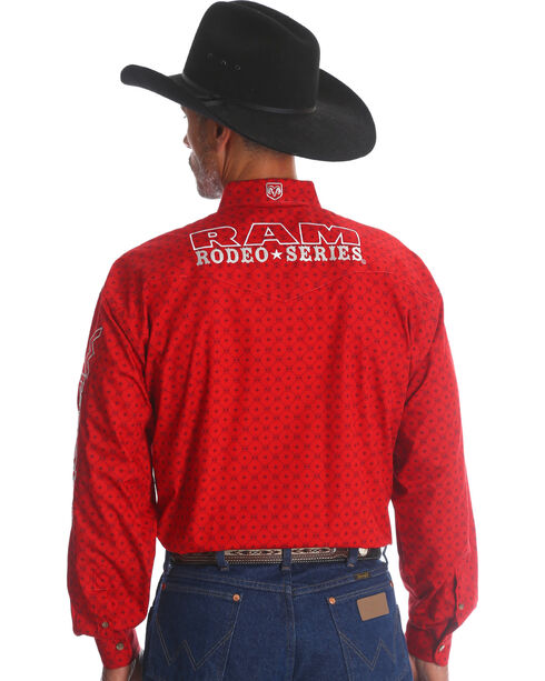 Wrangler Men's Red RAM Logo Western Shirt - Tall, Red, hi-res
