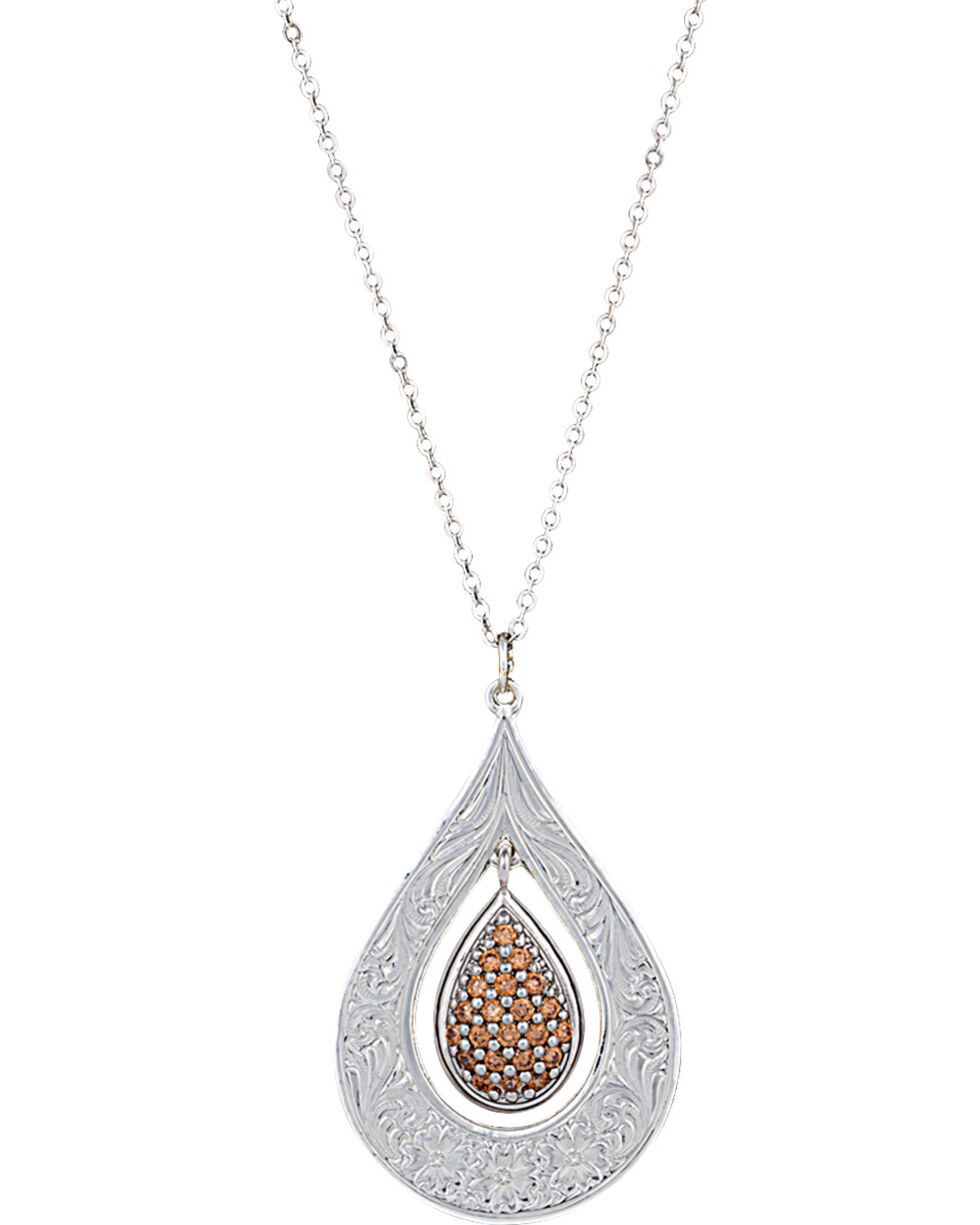 Montana Silversmiths Flower's Champagne Spark Necklace, Silver, hi-res