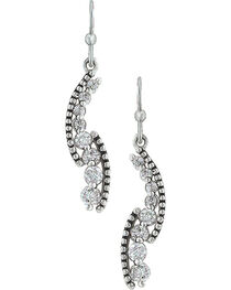 Montana Silversmiths Women's Sparkling Pathway Earrings , , hi-res
