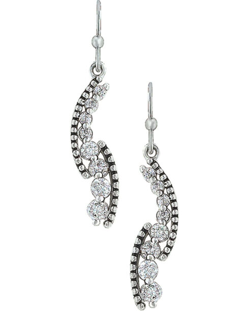 Montana Silversmiths Women's Sparkling Pathway Earrings , Silver, hi-res