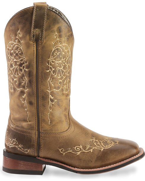 Laredo Women's Cowboy Approved Embroidered Western Boots, Taupe, hi-res