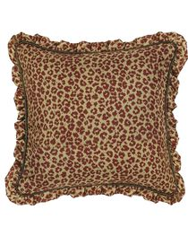 HiEnd Accents Austin Ruffle Leopard Euro Sham, , hi-res