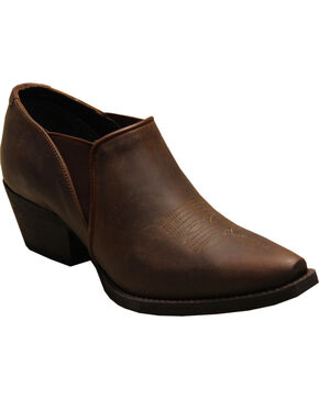 Rawhide Women's X Toe Ankle Booties, Brown, hi-res