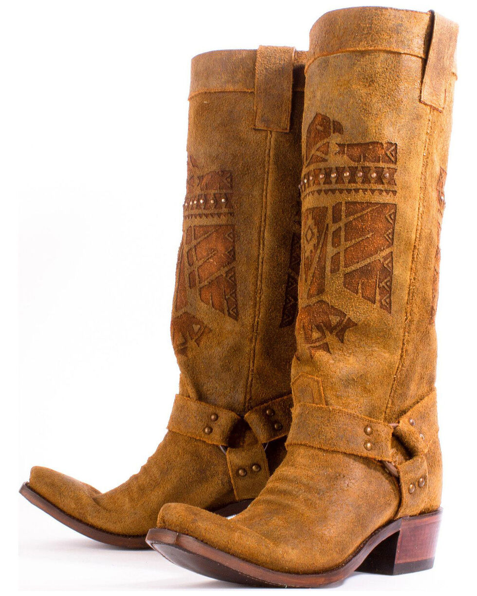 Junk Gypsy by Lane Women's She Who is Brave Western Boots, Honey, hi-res