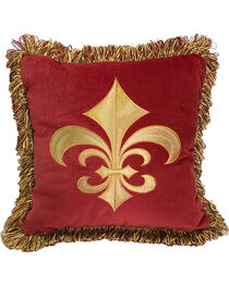 HiEnd Accents Multi Fleur De Lis Pillow , , hi-res