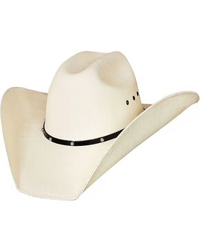 Bulhide Double Barrel Manhattan Straw Cowboy Hat, Natural, hi-res