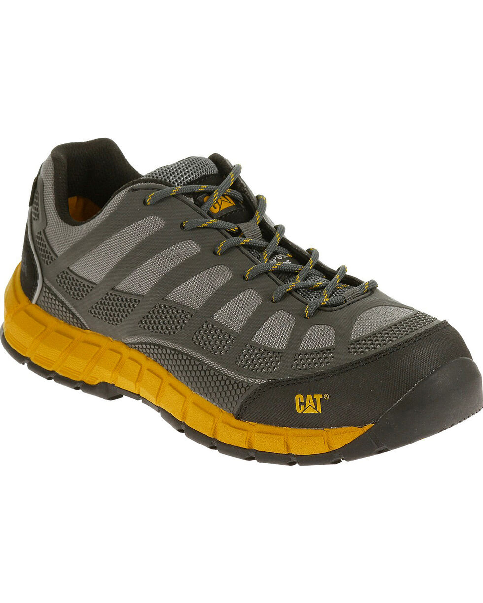 CAT Men's Streamline ESD Composite Toe Work Boots, Grey, hi-res