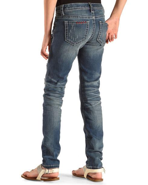 Miss Me Girls' Indigo Vintage Patch Jeans -  Skinny Jean, Indigo, hi-res
